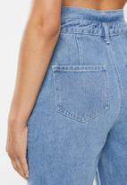 Missguided - Paperbag riot mom jean - blue