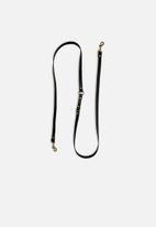 Escape Society - Leather doggo leash - black