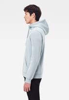 G-Star RAW - Premium core hdd zip long sleeve sweat - faze blue