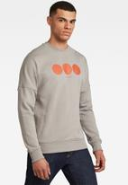 G-Star RAW - Drop shldr objects graphic r long sleeve sweat - neutral