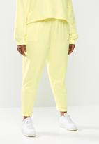 Blake - Fleece ankle grazer jogger - yellow
