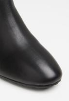 POLO - Amber leather heeled ankle boot - black