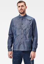 G-Star RAW - Multi slant pocket relaxed long sleeve shirt - rinesd