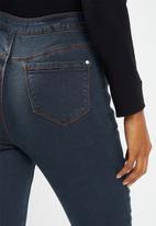 Missguided - Petite vice highwaisted slash knee jean - blue