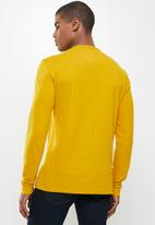POLO - Mens pjc dru knit henley tee - mustard