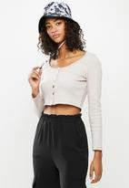 Blake - Fitted cropped cardi - neutral