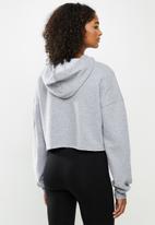 Blake - Fleece cropped hoodie - grey