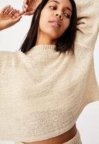 Cotton On - Summer lounge long sleeve - beige