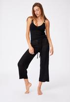 Cotton On - Summer lounge singlet - black