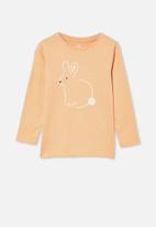 Cotton On - Penelope long sleeve tee - peach