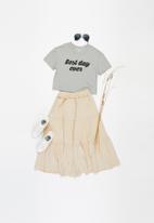 Superbalist - Girls tiered midi skirt - beige