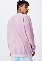 Factorie - Reverse fleece crew - washed fuschia
