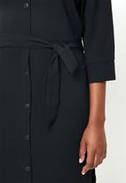 ONLY - Nova lux 3/4 sleeve dress - black