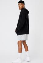 Factorie - Reverse fleece hoodie - washed black