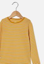 Cotton On - Jessie crew - yellow & white