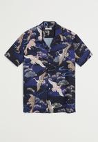 MANGO - Trek shirt - navy