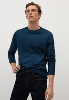 MANGO - Gareth T-shirt - navy