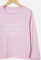 Free by Cotton On - Girls classic long sleeve tee - pale violet