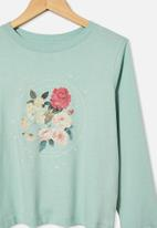 Free by Cotton On - Girls classic long sleeve tee - green