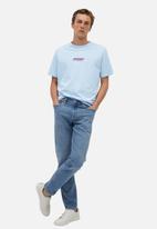 MANGO - Embro-i T-shirt - blue