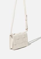 Rubi - Christy woven cross body bag - white