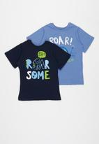 POP CANDY - Younger boys 2 pack graphic tees - blue