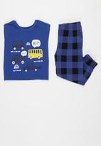 POP CANDY - Younger boys pj set - blue & black