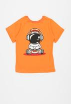 POP CANDY - Younger boys pj set - orange & grey