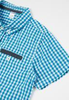 MINOTI - Checked shirt - blue & white