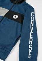 Converse - Cnvb colourblock track jacket - cape blue heather