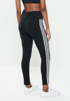 adidas Originals - High waisted tights - black & white