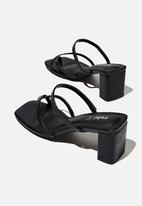 Cotton On - Isla toe loop heel - black
