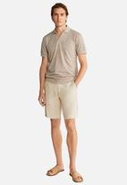 MANGO - Crochet polo shirt - beige