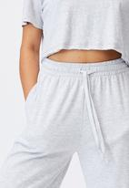 Cotton On - Lifestyle wide leg trackpant - cloudy grey marle
