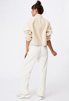 Cotton On - Lifestyle wide leg trackpant - buttermilk