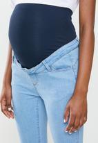 Missguided - Maternity scuplt detail sinner skinny - blue