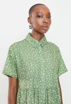 Missguided - Shirt smock dress polka - sage