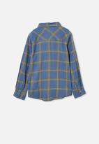Free by Cotton On - Rocky long sleeve shirt - blue plaid check