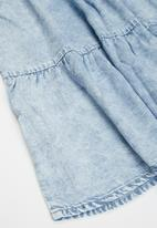 KIDS ONLY - Carly light acid wash denim dress - blue
