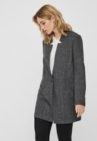 Vero Moda - Reva long sleeve long blazer - dark grey
