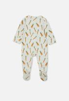 Cotton On - The long sleeve zip romper - cloud marle