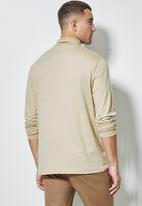 Superbalist - Milan long sleeve roll neck tee - stone