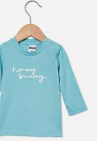 Cotton On - Jamie long sleeve tee - blue ice