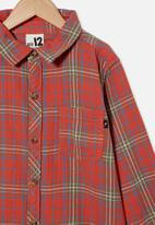 Free by Cotton On - Rocky long sleeve shirt - red plaid check