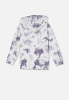 Cotton On - Charlie hoodie - steel/tie dye