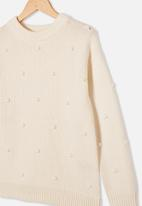 Free by Cotton On - Piper knit jumper - vanilla