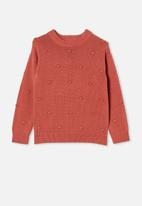 Free by Cotton On - Piper knit jumper - chutney