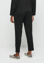 edit - Pull on ponti knit trouser - black