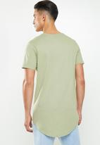 Factorie - Curved graphic T-shirt - sage