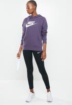 Nike - Nsw essential hoodie hbr -  purple & white